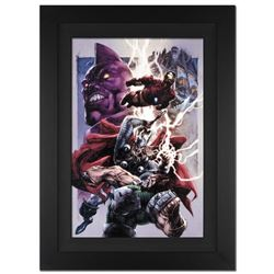 """Iron Man/Thor #2"" Extremely Limited Edition Giclee on Canvas (28"" x 39"") by Stephen Segovia and Mar"
