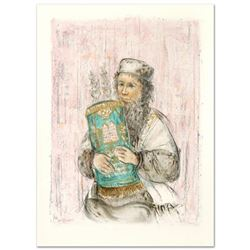 """Israeli Rabbi"" Limited Edition Lithograph by Edna Hibel (1917-2014), Numbered and Hand Signed with"