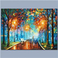 "Leonid Afremov ""Misty Mood"" Limited Edition Giclee on Canvas, Numbered and Signed; Certificate of Au"