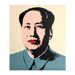 "Andy Warhol ""Mao Yellow"" Silk Screen Print from Sunday B Morning."
