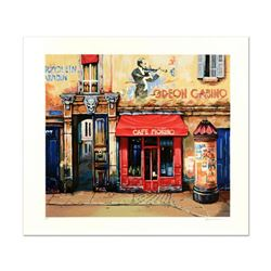 """Alexander Borewko, """"Cafe Furino"""" Limited Edition Giclee, Numbered and Hand Signed."""