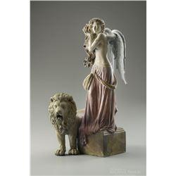 """Michael Parkes """"Lion's Return"""" Bronze Sculptures"""