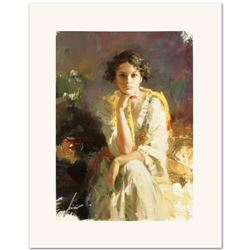 """Pino (1931-2010), """"Yellow Shawl"""" Limited Edition on Canvas, Numbered and Hand Signed with Certificat"""
