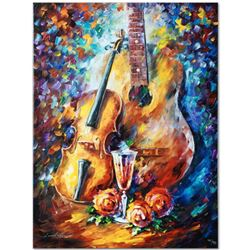 """Leonid Afremov """"Serenade"""" Limited Edition Giclee on Canvas, Numbered and Signed; Certificate of Auth"""