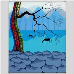 """""""Good Neighbors"""" Limited Edition Giclee on Canvas by Larissa Holt, Protege of Acclaimed Artist Eyvin"""