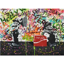 """Nastya Rovenskaya- Mixed Media """"Loving Coca Cola"""""""