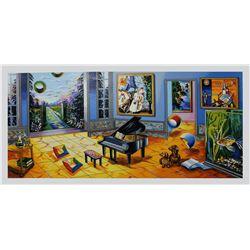 "Alexander Astahov- Original Serigraph on Paper ""BLACK PIANO"""