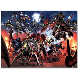 """Marvel Comics """"Secret War #3"""" Numbered Limited Edition Giclee on Canvas by Gabriele Dell'Otto; Inclu"""