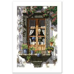 """""""La Ventana"""" Limited Edition Serigraph by Juan Medina, Numbered and Hand Signed with Certificate of"""