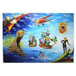 """Eugene Poliarush- Original Oil on Canvas """"Dali Vision"""""""