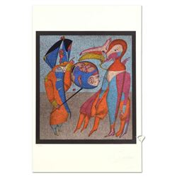 """Mihail Chemiakin - Carnival Series: """"Untitled 9"""" Limited Edition Lithograph, Numbered Hand Signed wi"""