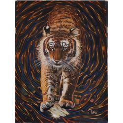 "Vera V. Goncharenko- Original Oil on Canvas ""Wild Tiger"""