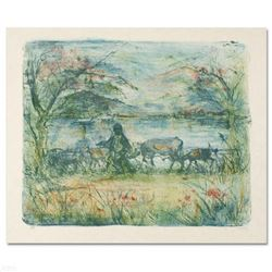 """""""Greek Farmer"""" Limited Edition Lithograph by Edna Hibel, Numbered and Hand Signed with Certificate o"""