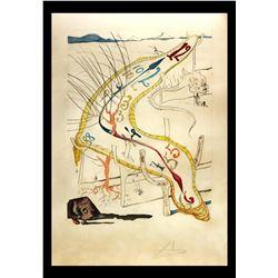 """Salvador Dali- Original Engravings with Lithographic Color """"Les montres gelatines de l'espace-temps"""""""