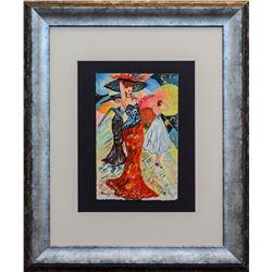 "Patricia Govezensky- Original Watercolor ""Maricel"""