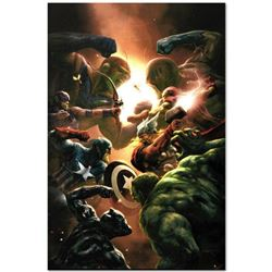 "Marvel Comics ""New Avengers #43"" Numbered Limited Edition Giclee on Canvas by Aleksi Briclot; Includ"