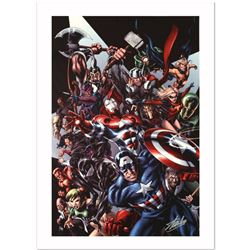 """Avengers Assemble #1"" Limited Edition Giclee on Canvas by Mike McKone and Marvel Comics. Numbered a"