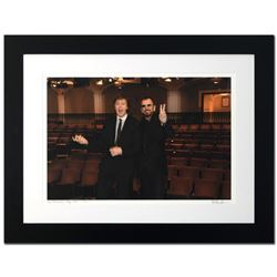 """Paul McCartney & Ringo Starr"" Limited Edition Giclee by Rob Shanahan, Numbered and Hand Signed with"