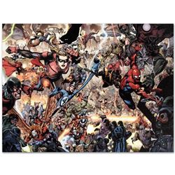 "Marvel Comics ""Secret Invasion #7"" Numbered Limited Edition Giclee on Canvas by Leinil Francis Yu; I"