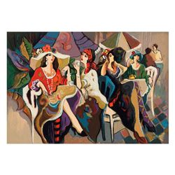 "Isaac Maimon - ""Cafe Parasol"" Limited Edition Serigraph, Numbered and Hand Signed with Letter of Aut"
