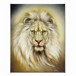 """White Lion"" Limited Edition Giclee on Canvas by Martin Katon, Numbered and Hand Signed with Certifi"
