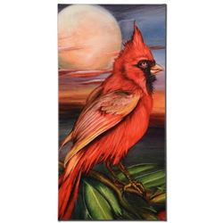 """Cardinal Moon"" Limited Edition Giclee on Gallery Wrapped Canvas by Martin Katon, Numbered and Hand"