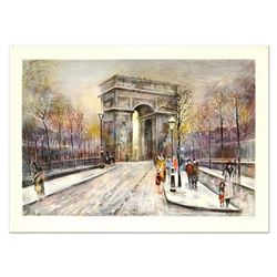 "Antonio Rivera, ""Arc de Triomphe"" Limited Edition Lithograph, Numbered and Hand Signed."