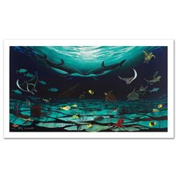 """Loving Sea"" Limited Edition Giclee on Canvas (42"" x 22.5"") by Famed Artist Wyland, Numbered and Han"