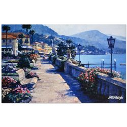 """Howard Behrens (1933-2014), """"Bellagio Promenade"""" Limited Edition Hand Embellished Giclee on Canvas w"""