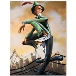 """""""Peter Pan"""" Limited Edition Giclee on Canvas by David Garibaldi, CC Numbered from Miniature Series a"""
