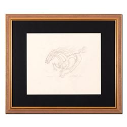 """Guillaume Azoulay - """"AU Sketch"""" Framed Original Drawing, Hand Signed with Certificate of Authenticit"""