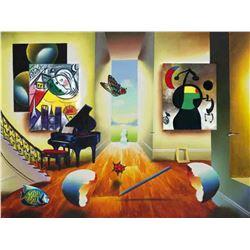 "Ferjo ""CHAGALL'S RECITAL"" Giclee on Canvas"