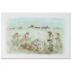 """""""Tuscan Fields"""" Limited Edition Lithograph by Edna Hibel, Numbered and Hand Signed with Certificate"""