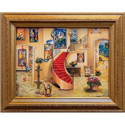 "Alexander Astahov- Original Giclee on Canvas ""Chagall View"""