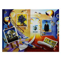 "Alexander Astahov- Original Oil on Canvas ""Writing My Story"""