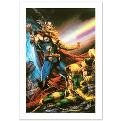 """""""Thor: First Thunder #5"""" Limited Edition Giclee on Canvas by Jay Anacleto and Marvel Comics. Numbere"""