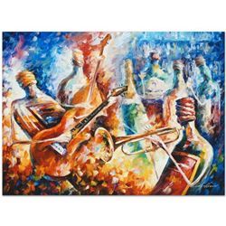 """Leonid Afremov """"Bottle Jazz II"""" Limited Edition Giclee on Canvas, Numbered and Signed; Certificate o"""