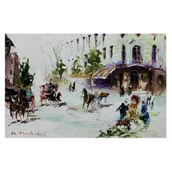 "Shalva Phachoshvili- Original Oil on Canvas ""Restaurant View"""