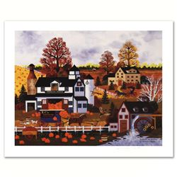"""""""Textures of Autumn"""" Limited Edition Lithograph by Jane Wooster Scott, Numbered and Hand Signed with"""