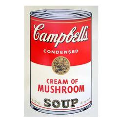 "Andy Warhol ""Soup Can 11.53 (Cream of Mushroom)"" Silk Screen Print from Sunday B Morning."