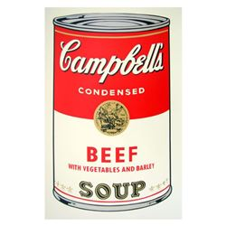 """Andy Warhol """"Soup Can 11.49 (Beef w/Vegetables)"""" Silk Screen Print from Sunday B Morning."""