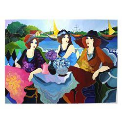 "Patricia Govezensky- Original Acrylic On Canvas ""Friends For Life"""