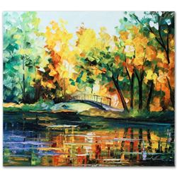 """Leonid Afremov """"To Walk Alone"""" Limited Edition Giclee on Canvas, Numbered and Signed; Certificate of"""