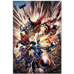 "Marvel Comics ""Avengers #12.1"" Numbered Limited Edition Giclee on Canvas by Bryan Hitch; Includes Ce"