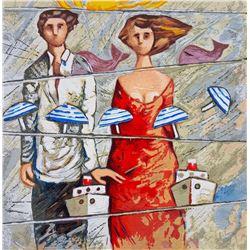 """Giampaolo Talani """"ROTTE TRAVERSE"""" Original Serigraph"""