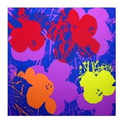 "Andy Warhol ""Flowers 11.66"" Silk Screen Print from Sunday B Morning."