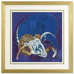 "Lu Hong, ""Capricorn (12/22 - 1/20)"" Framed Limited Edition Giclee, Numbered and Hand Signed with COA"