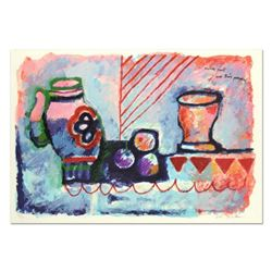 "Theo Tobiasse (1927-2012), ""Nature Morte Avec Trois Pommes"" Limited Edition Lithograph, Numbered and"
