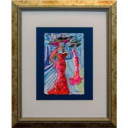 """Patricia Govezensky- Original Watercolor """"Summer in Tel Aviv"""""""