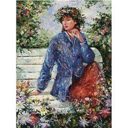 "Igor Semeko- Original Giclee on Canvas ""Flora"""
